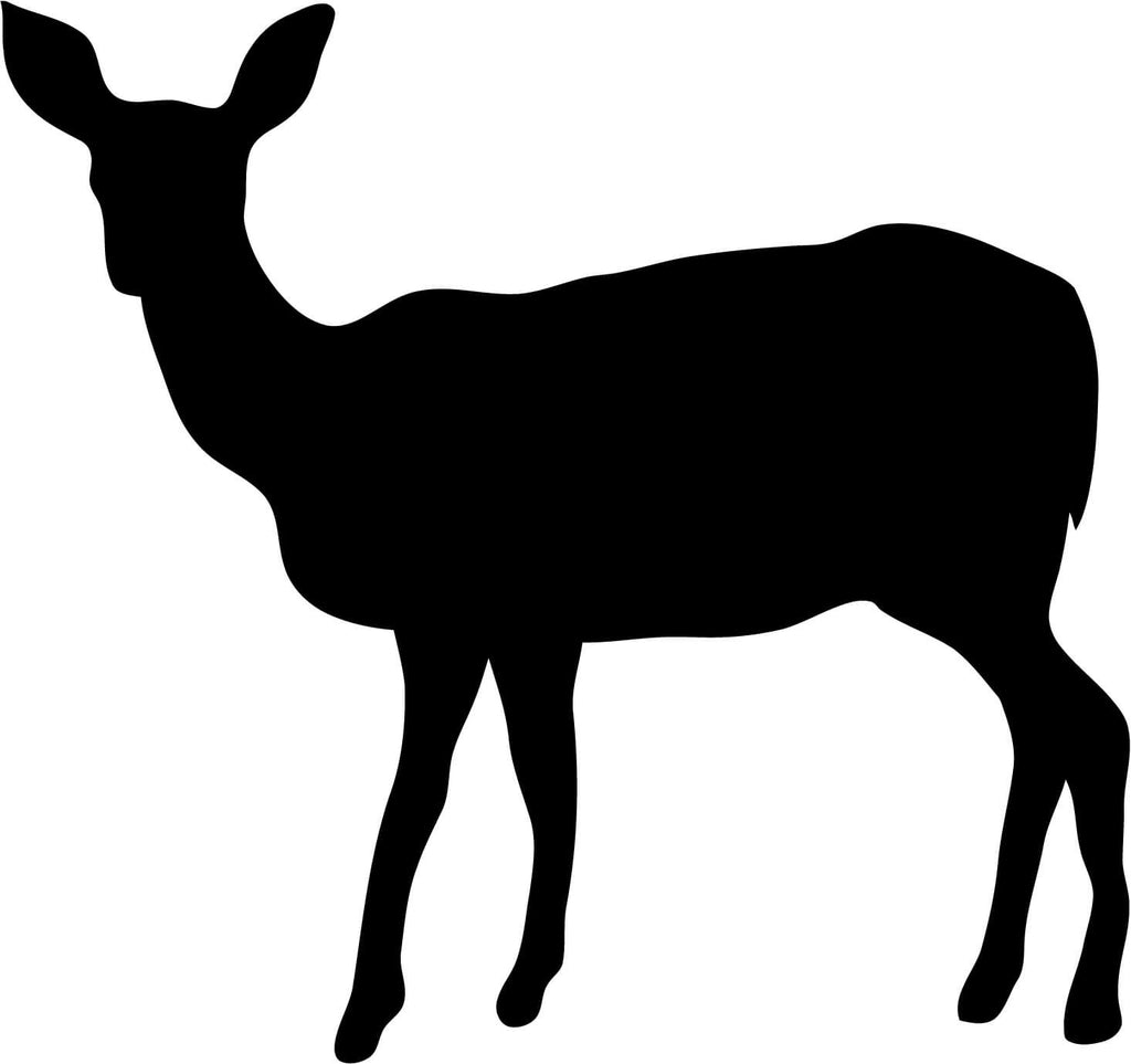 Deer Doe Silhouette - Vinyl Car Window and Laptop Decal Sticker