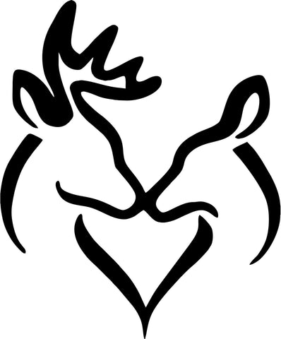 Deer and Doe in love kissing Vinyl Car Window Laptop Decal Sticker