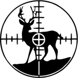 Deer in Crosshairs - Vinyl Car Window and Laptop Decal Sticker - Decal - Car and Laptop Window Decal Sticker - 1