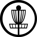 Disc Golf Basket - Vinyl Car Window and Laptop Decal Sticker - Decal - Car and Laptop Window Decal Sticker - 1