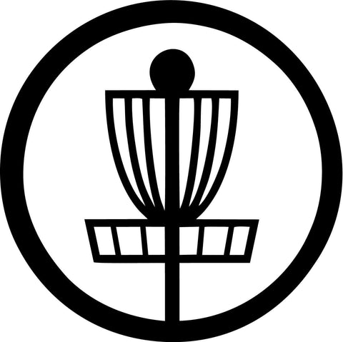 Disc Golf Basket Vinyl Car Window Laptop Decal Sticker