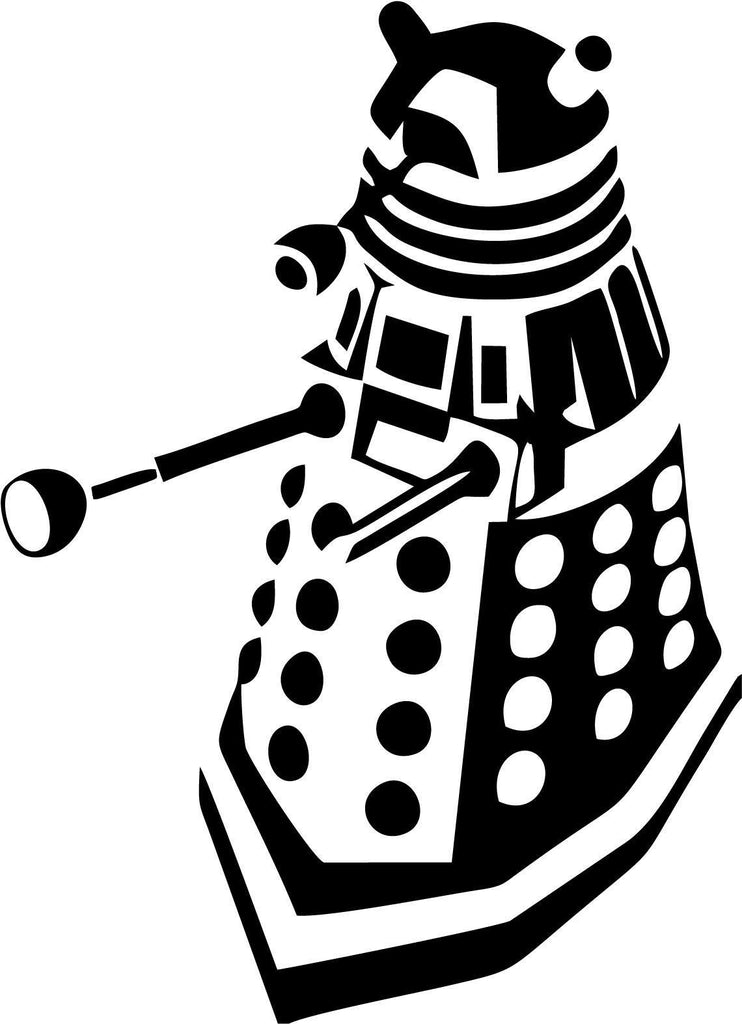 Doctor Who Dalek Front Side Vinyl Car Window Laptop Decal Sticker