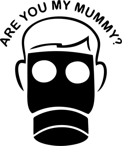 Doctor Who - Are You My Mummy - Vinyl Car Window and Laptop Decal Sticker