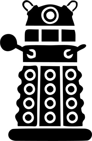 Doctor Who - Dalek Front - Vinyl Car Window and Laptop Decal Sticker