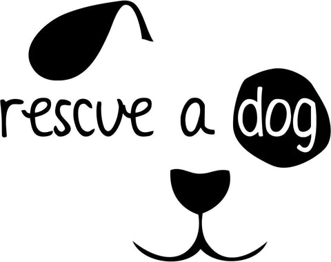 Dog Rescue A Dog Vinyl Car Window Laptop Decal Sticker
