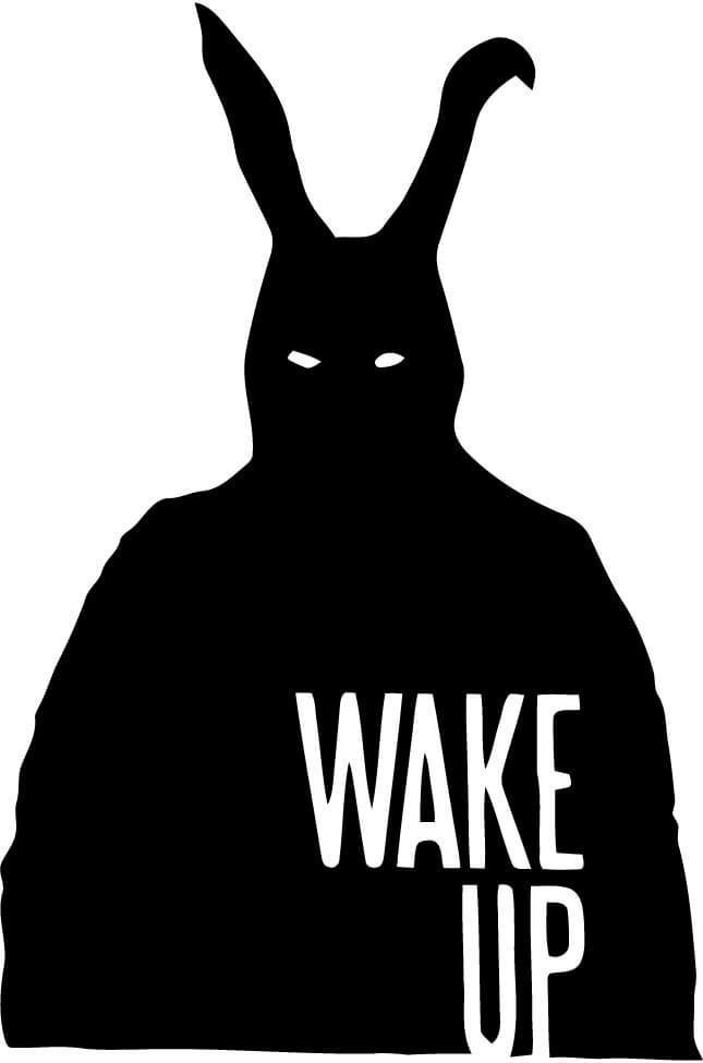 Donnie Darko - Wake Up - Vinyl Car Window and Laptop Decal Sticker - Decal - Car and Laptop Window Decal Sticker - 1