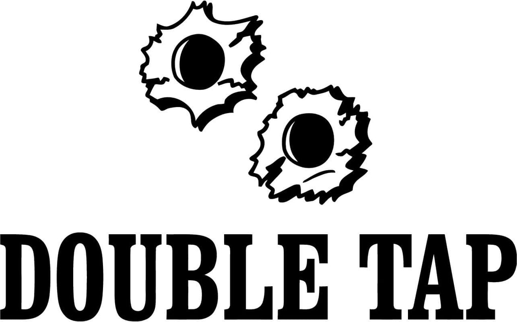 Double Tap Vinyl Car Window Laptop Decal Sticker