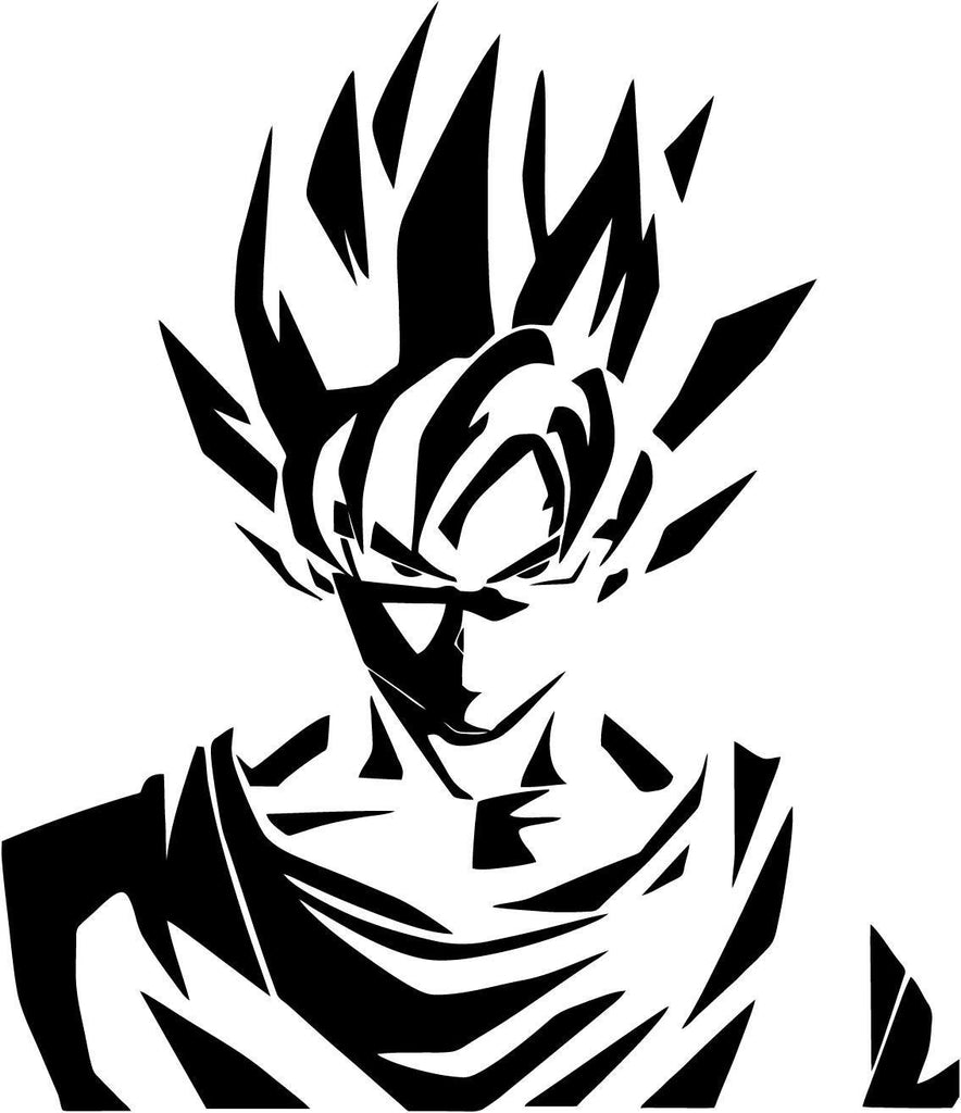 Dragon Ball - Goku Variation 1 - Vinyl Car Window and Laptop Decal Sticker - Decal - Car and Laptop Window Decal Sticker - 1
