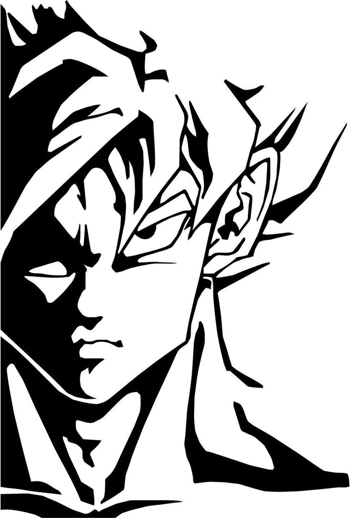 Dbz dragon ball z goku variation 2 vinyl car window and laptop decal sticker