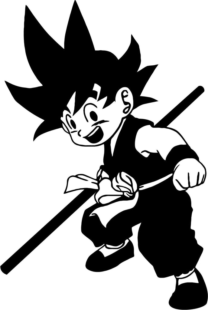 Dragon Ball Kid Goku Vinyl Car Window Laptop Decal Sticker