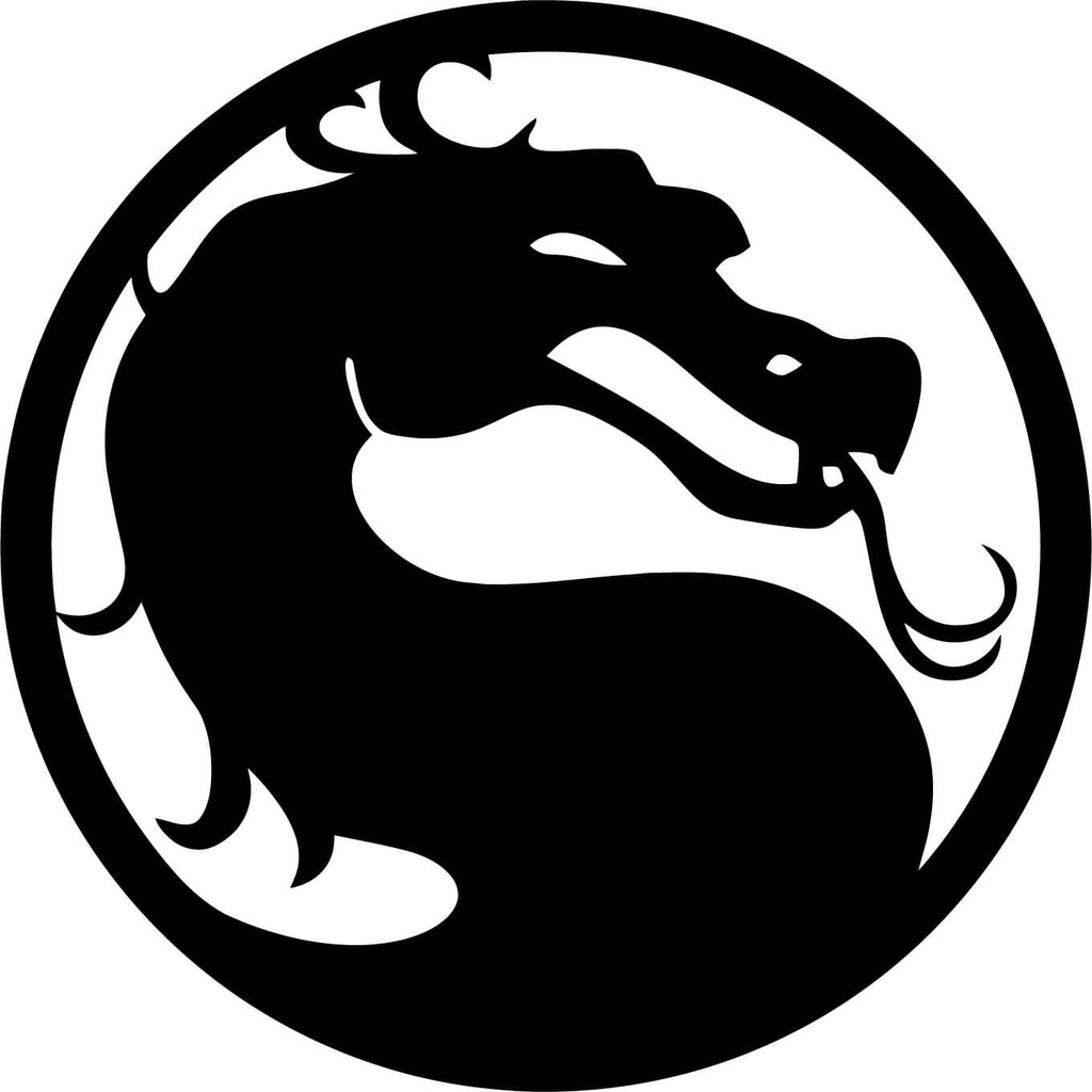 Dragon Emblem, Mortal Kombat Inspired Vinyl Car Window Laptop Decal Sticker