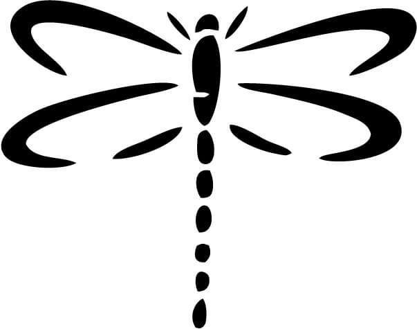 Dragonfly Vinyl Car Window Laptop Decal Sticker