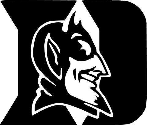 Duke University Blue Devils Vinyl Car Window Laptop Decal Sticker