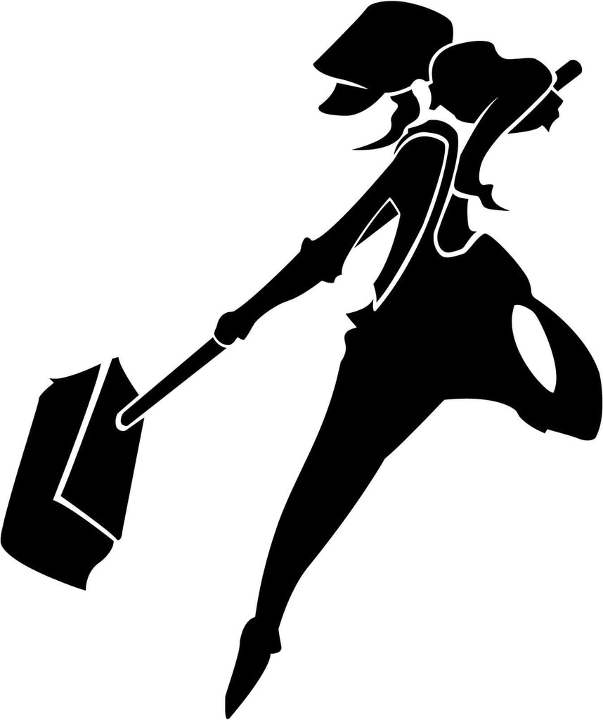 Dustforce Dustgirl Vinyl Car Window Laptop Decal Sticker