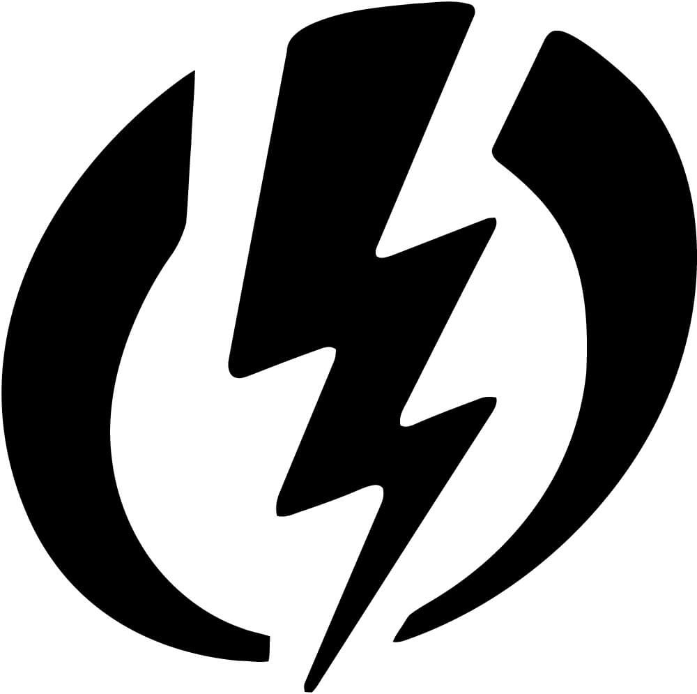 Electric Symbol Danger Vinyl Car Window Laptop Decal Sticker