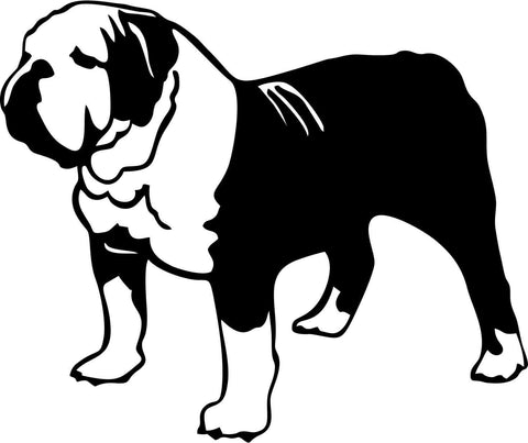 English Bulldog Vinyl Car Window Laptop Decal Sticker