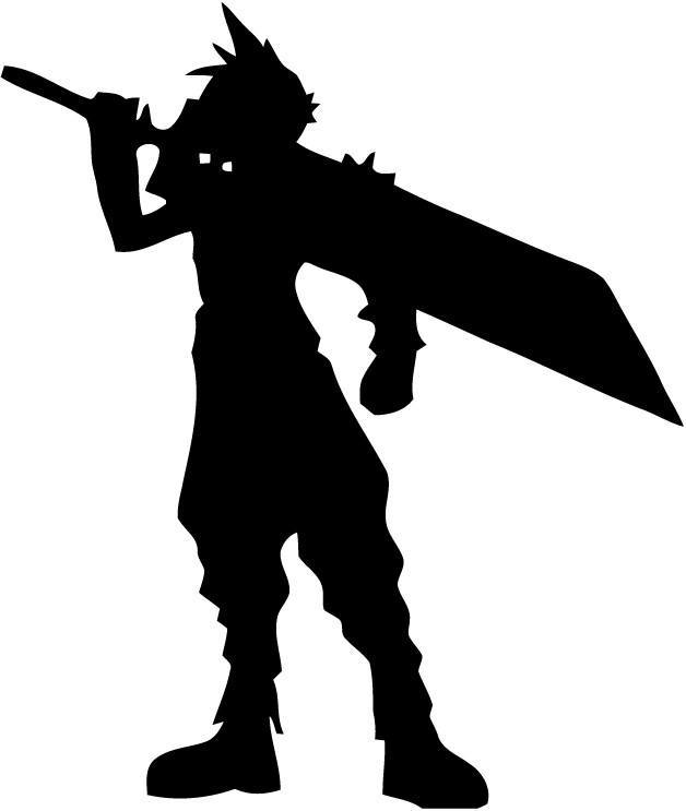 Final Fantasy - Cloud Sword - Vinyl Car Window and Laptop Decal Sticker - Decal - Car and Laptop Window Decal Sticker - 1