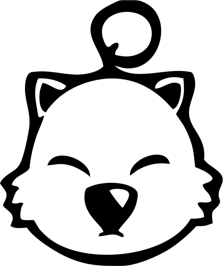 Final Fantasy - Moogle Head - Vinyl Car Window and Laptop Decal Sticker - Decal - Car and Laptop Window Decal Sticker - 1