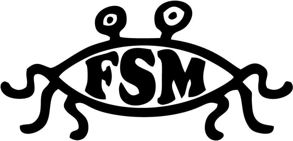 Flying Spaghetti Monster - FSM - Vinyl Car Window and Laptop Decal Sticker - Decal - Car and Laptop Window Decal Sticker - 1