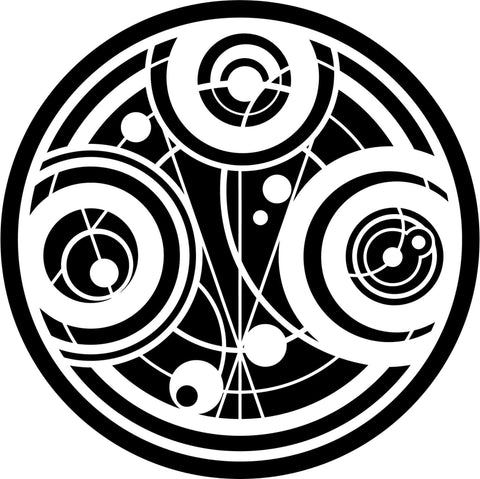 Gallifrey Time Lord Seal Of Prydonian From Doctor Who - Vinyl Car Window and Laptop Decal Sticker