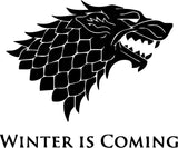 Game of Thrones Winter Is Coming Vinyl Car Window Laptop Decal Sticker