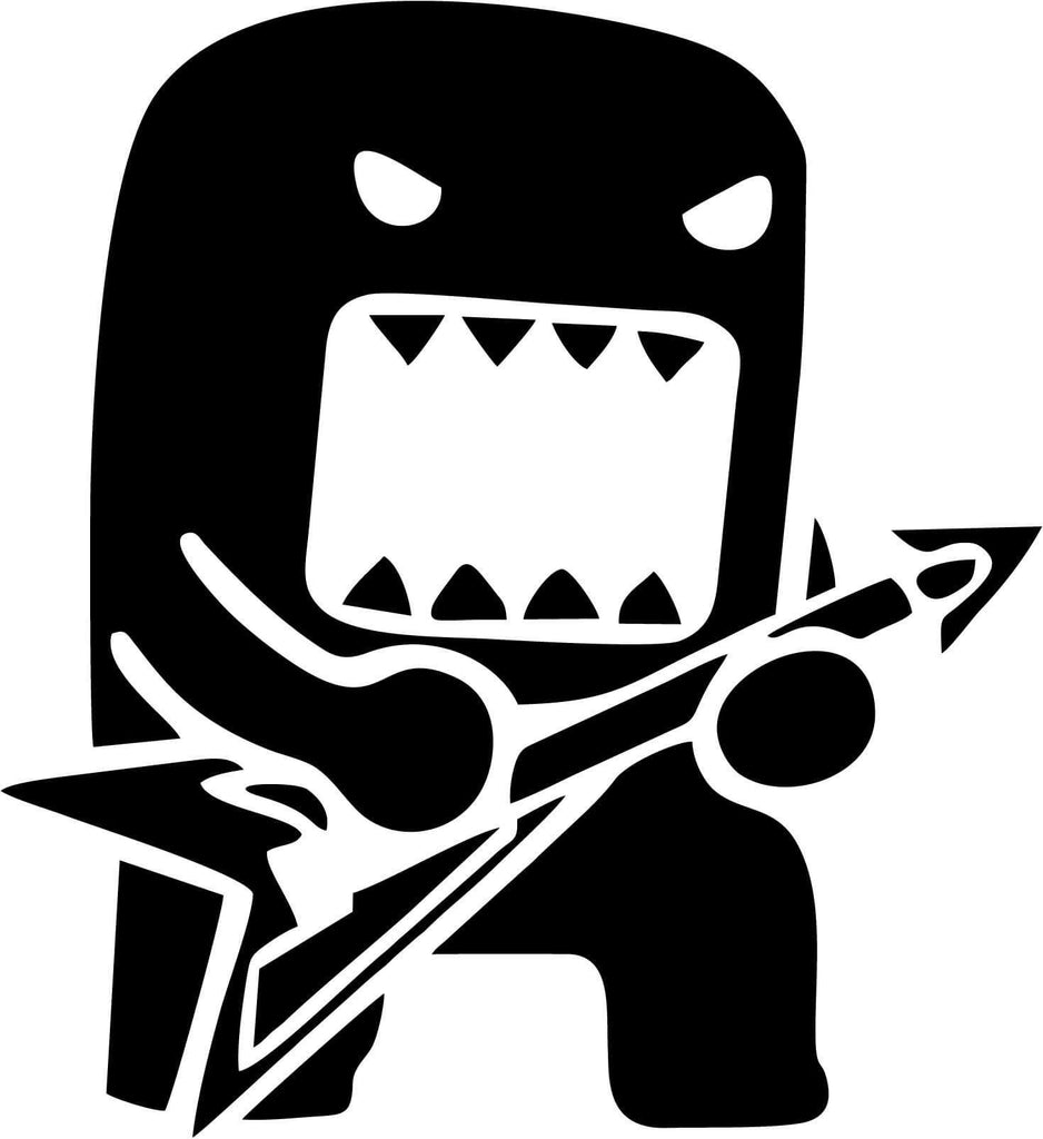 Guitar Domo Kin Rock Star Vinyl Car Window Laptop Decal Sticker