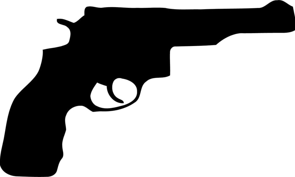 Gun Revolver Vinyl Car Window Laptop Decal Sticker