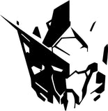 Gundam Anime Helmet Vinyl Car Window Laptop Decal Sticker