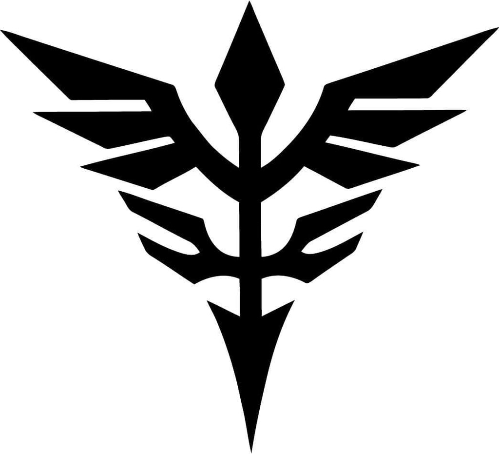 Gundam Neo Zeon Logo Anime Vinyl Car Window Laptop Decal Sticker