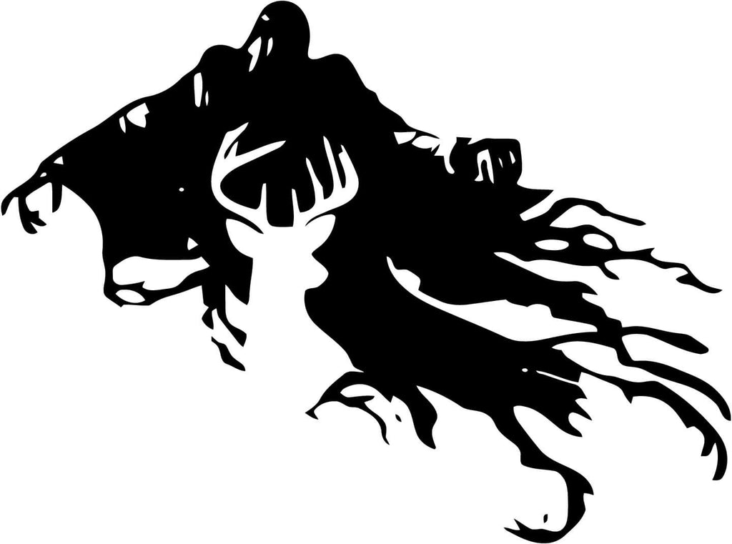 Harry Potter Dementor and Stag Vinyl Car Window Laptop Decal Sticker