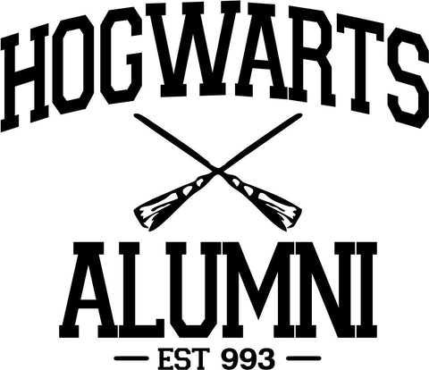 Harry Potter Hogwarts Alumni Vinyl Car Window Laptop Decal Sticker