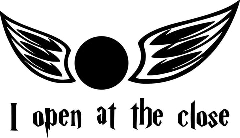Harry Potter - I Open At The Close - Snitch - Vinyl Car Window and Laptop Decal Sticker