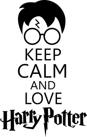 Harry Potter - Keep Calm and Love Harry Potter - Vinyl Car Window and Laptop Decal Sticker