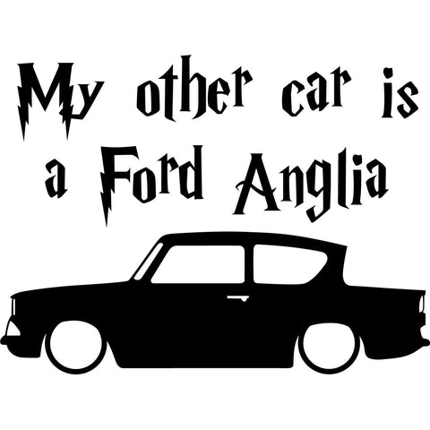 Harry Potter - My Other Car Is A Ford Anglia - Vinyl Car Window and Laptop Decal Sticker
