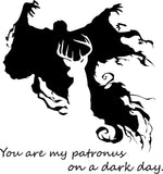 Harry Potter You Are My Patronus On A Dark Day Car Window Laptop Decal Sticker