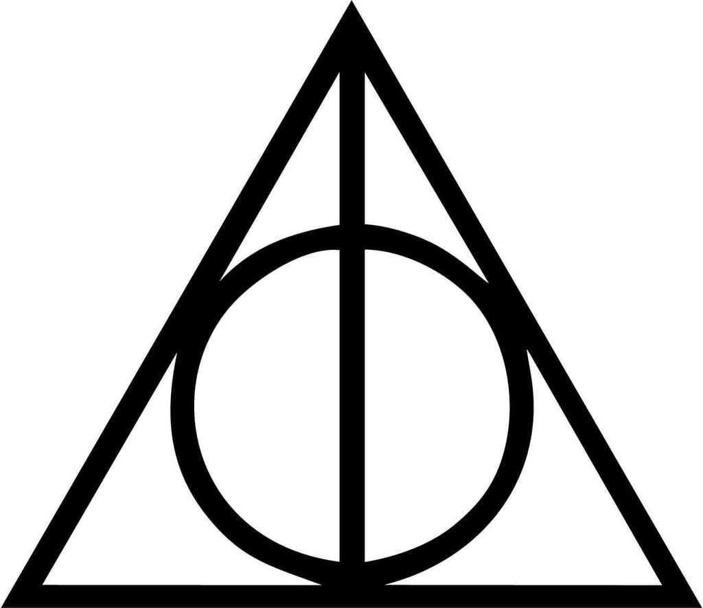 Harry Potter - Deathly Hallows - Vinyl Car Window and Laptop Decal Sticker - Decal - Car and Laptop Window Decal Sticker - 1