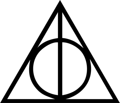 Harry Potter Deathly Hallows Vinyl Car Window Laptop Decal Sticker