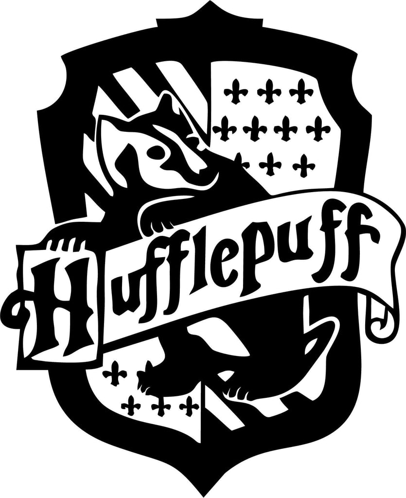 Harry Potter - Hufflepuff House - Vinyl Car Window and Laptop Decal Sticker - Decal - Car and Laptop Window Decal Sticker - 1