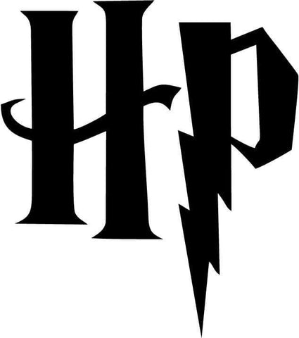 Harry Potter - HP Initials - Vinyl Car Window and Laptop Decal Sticker