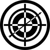 Hawkeye Target - Scope Emblem - Vinyl Car Window and Laptop Decal Sticker - Decal - Car and Laptop Window Decal Sticker - 1