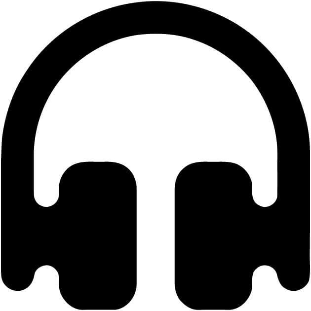 Head phones fun music ear mp3 listen loud Vinyl Car Window Laptop Decal Sticker