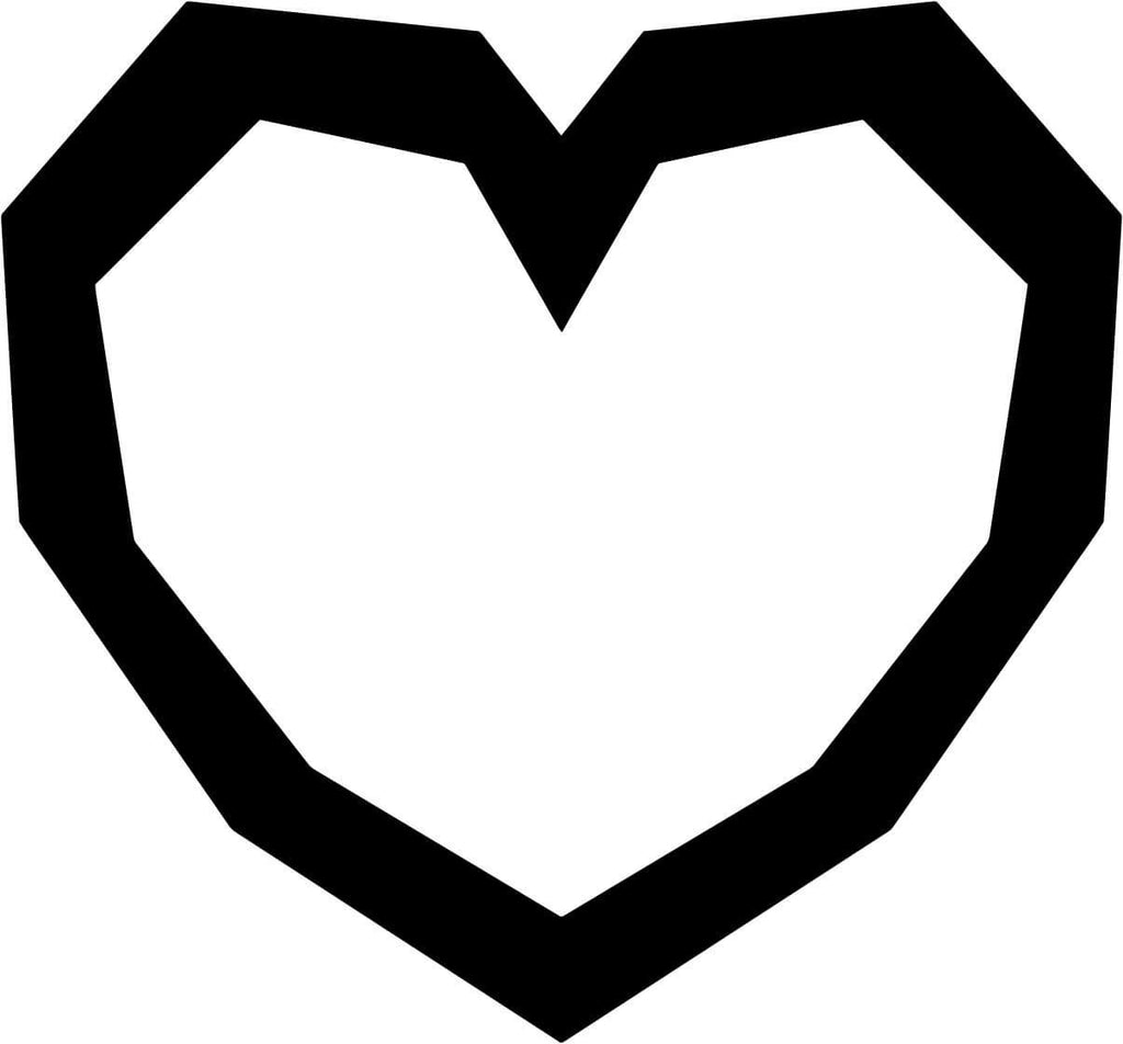 Heart Container Vinyl Car Window Laptop Decal Sticker