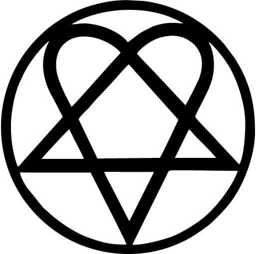 Heartagram Bam Margera - Vinyl Car Window and Laptop Decal Sticker - Decal - Car and Laptop Window Decal Sticker - 1