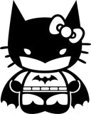 Hello Kitty Dark Meow, Hello BatKitty Vinyl Car Window Laptop Decal Sticker