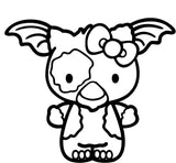 Hello Kitty Gizmo Vinyl Car Window Laptop Decal Sticker