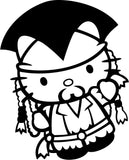 Hello Kitty Jack Sparrow Pirates of the Caribbean Car Window Decal Sticker