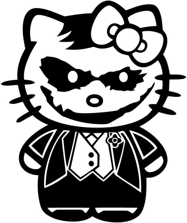 Hello Kitty Joker Vinyl Car Window Laptop Decal Sticker