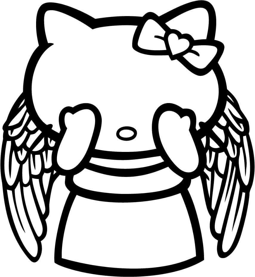 Hello Kitty Doctor Who Weeping Angel Vinyl Car Window Laptop Decal Sticker