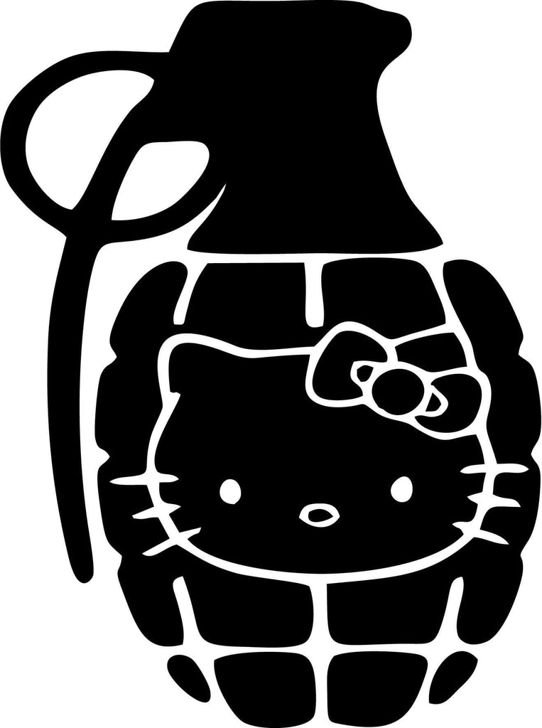 Hello Kitty Grenade Vinyl Car Window Laptop Decal Sticker