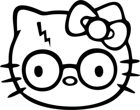 Hello Kitty Harry Potter Vinyl Car Window Laptop Decal Sticker